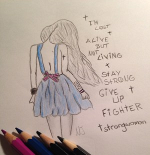 easy depression drawing strong heart getdrawings