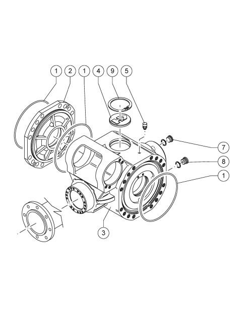 small resolution of 2537x3189 genie gth 4013 sx sn 20782 telehandler parts rear axle