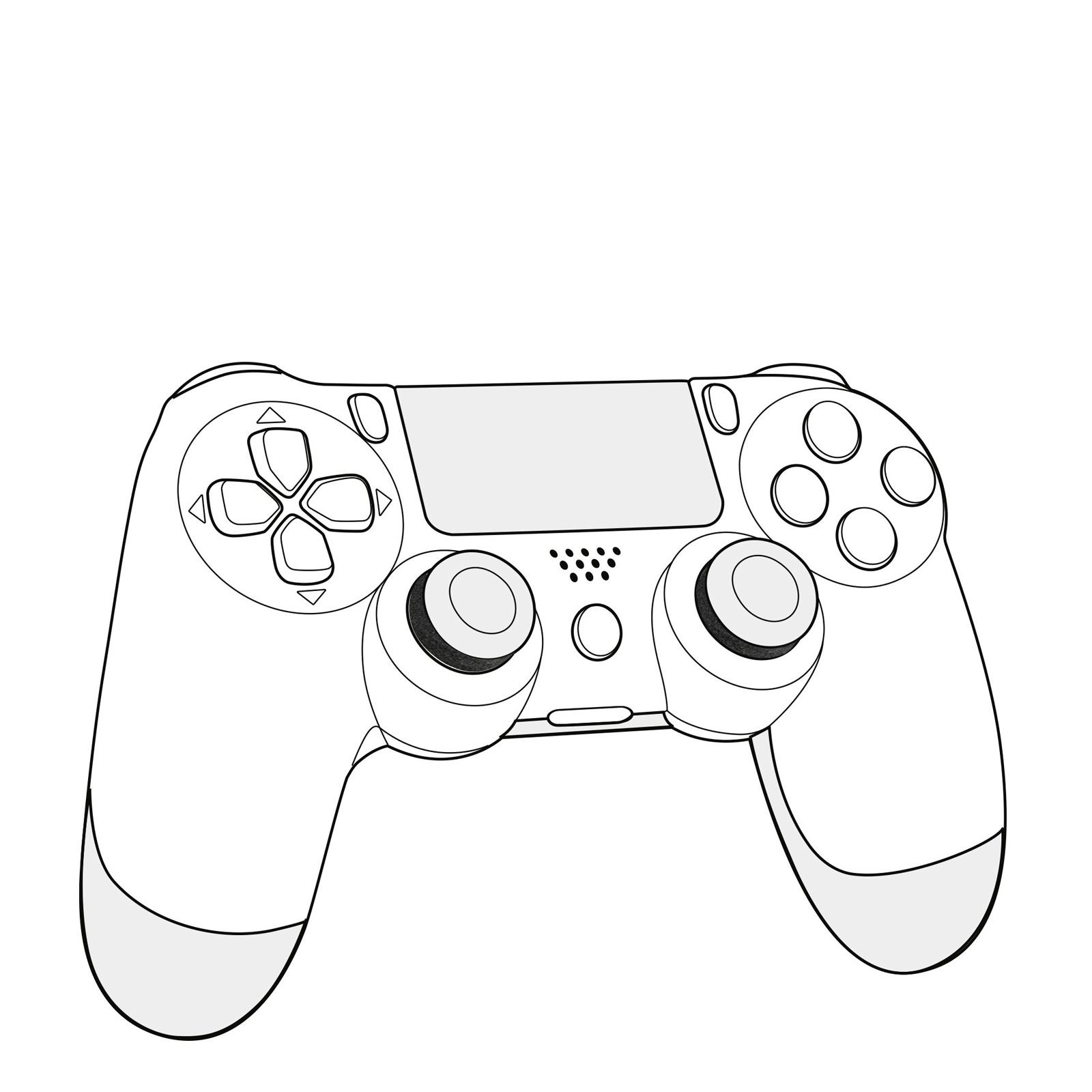 Drawing Of A Ps4 Controller At Getdrawings