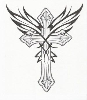 cross easy drawing drawings crosses getdrawings