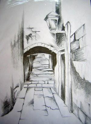 landscape beginners easy drawing draw beginner getdrawings