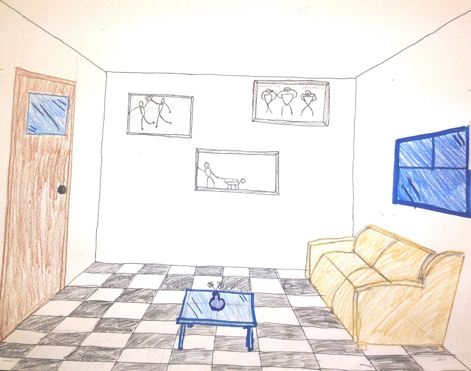 Easy One Point Perspective Drawing At Getdrawings