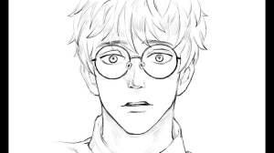 glasses drawing boy draw easy person wearing drawings goggles getdrawings safety paintingvalley