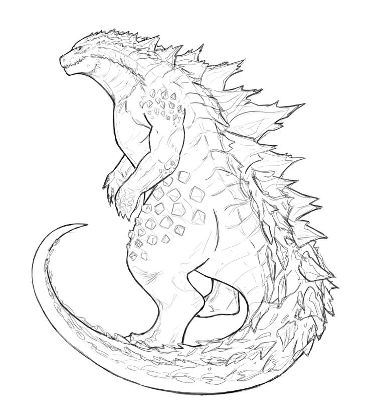 Godzilla 1998 Coloring Pages