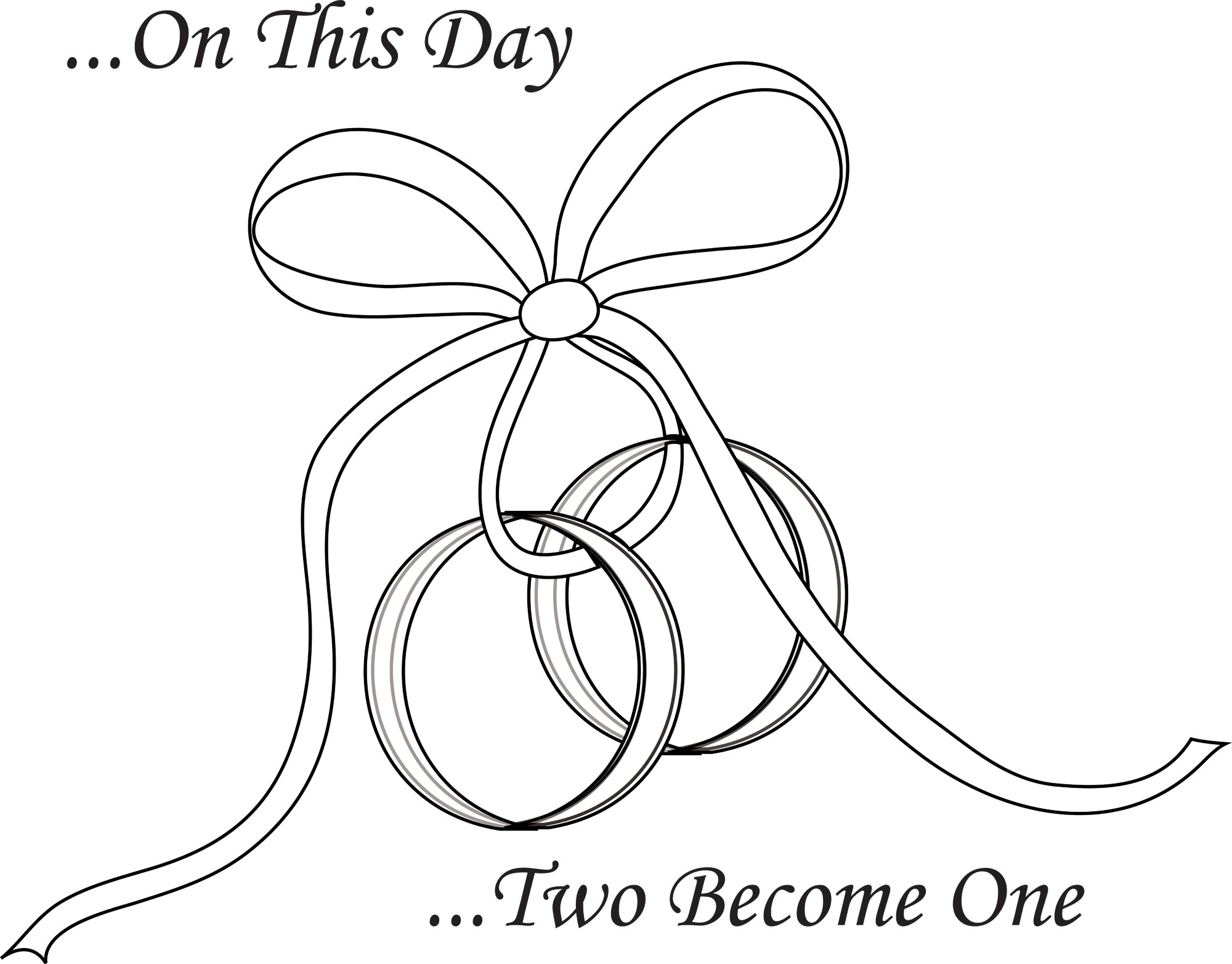 Interlocking Wedding Rings Drawing At Getdrawings