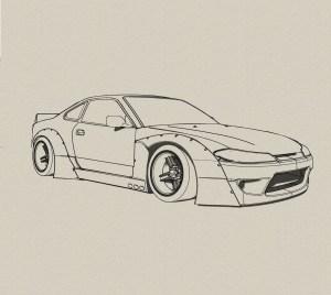 jdm drawing nissan cars drawings draw skyline drift s15 gtr sketch silvia 240sx desenhos google illustration rocketbunny colorir animados para