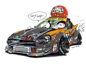 crazy jdm ozizo drawing mame japanese illustration cars cartoon deviantart イラスト s30z getdrawings