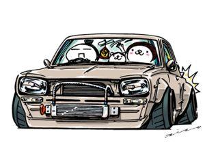 jdm crazy mame ozizo japanese nissan drawing hakosuka stickers cars deviantart line illustration cartoon drift drifting 370z イラスト gt official