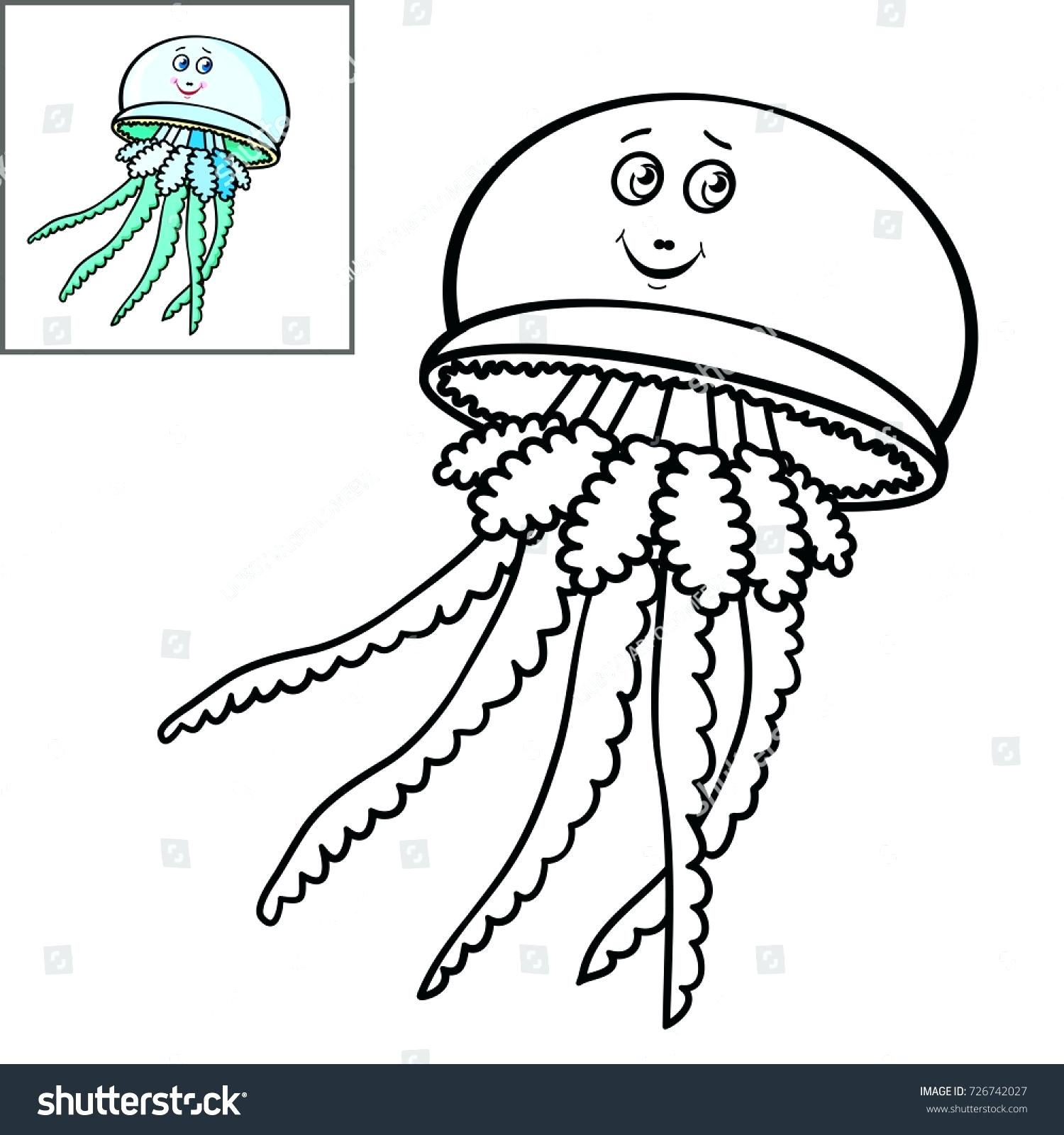 Easy Drawing Of Jellyfish Easy How To Draw Cute Sea Animals Carons