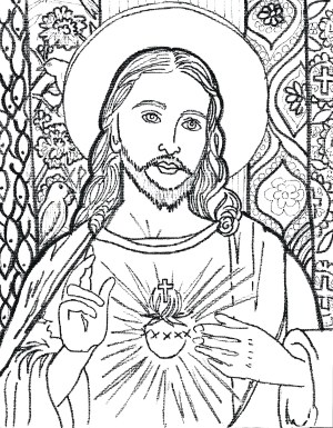 jesus coloring pages easy drawing christ face cross adults sketch step adult printable line pencil sketches drawings jacob lawrence sheets