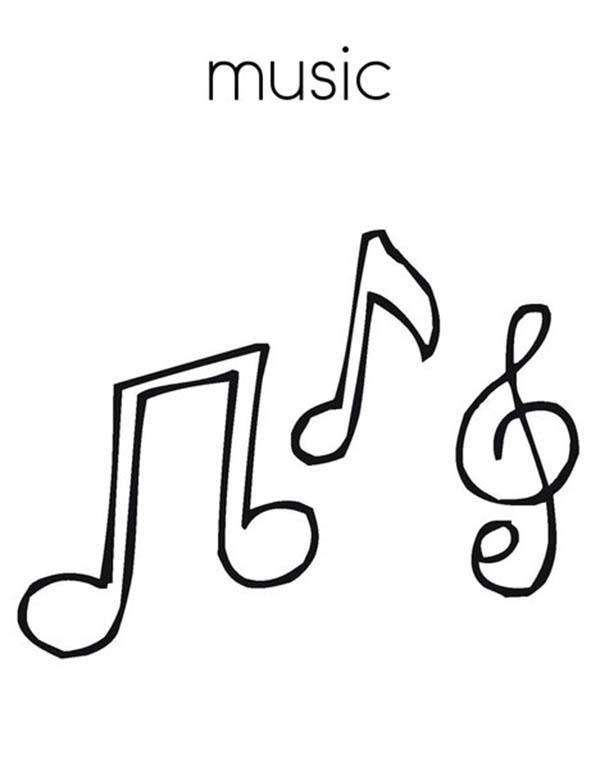 Easy To Draw Music Notes : music, notes, Music, Drawing, GetDrawings, Download