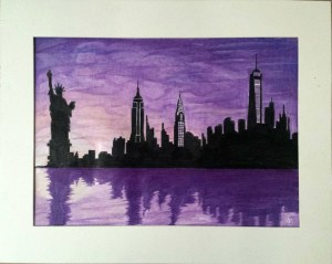 york drawing skyline silhouette sinatra frank drawings paper easy painting night silhouettes speed getdrawings poppins mary quote cut deviantart