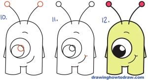 alien draw easy drawing cartoon step nice numbers drawings simple tutorial drawinghowtodraw steps aliens beginners sketches instructions getdrawings tutorials read