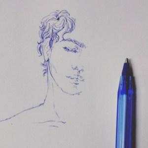 pen simple drawing sketch getdrawings