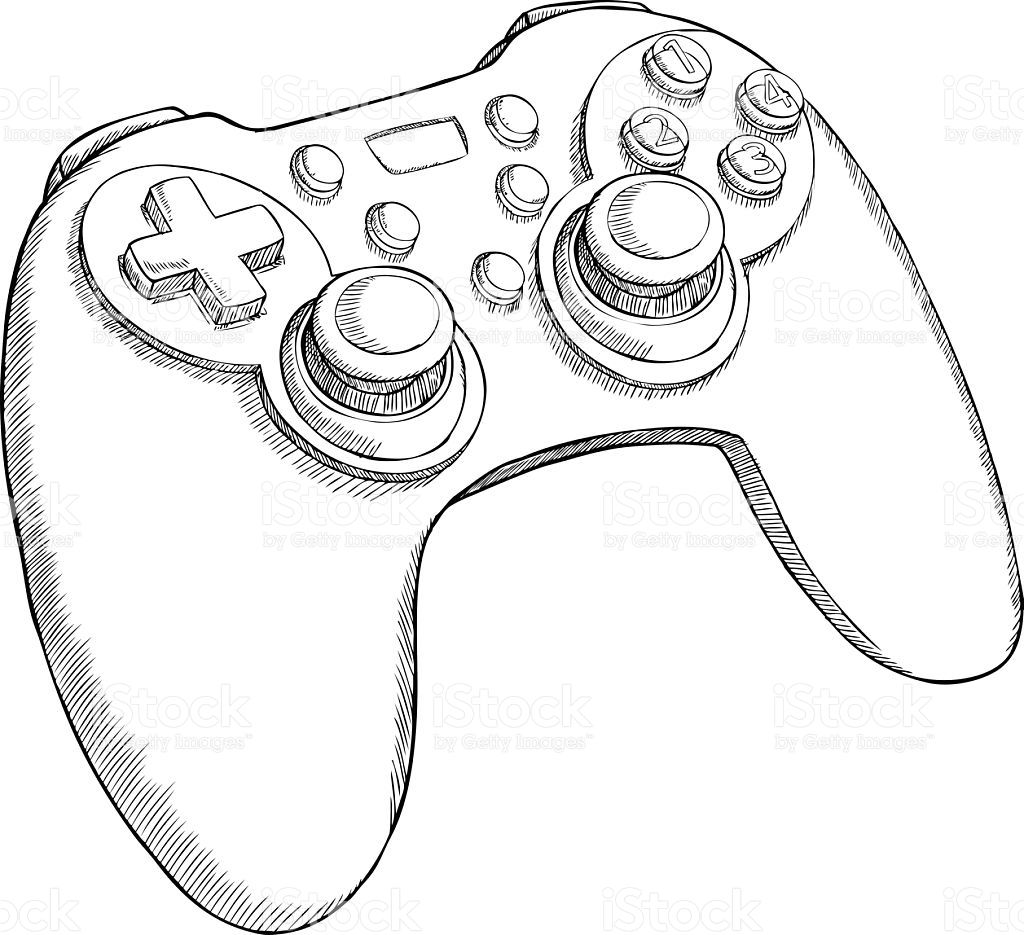 Ps3 Controller Drawing At Getdrawings