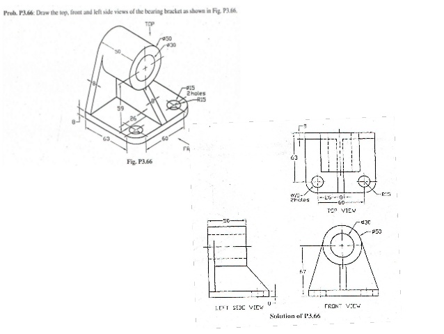 Sectional View Engineering Drawing Exercises at