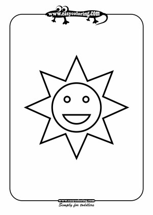 shapes coloring sun easy pages simple drawing toddlers using printable colouring young lots easycoloring crafts alphabet website getdrawings sheets drawings