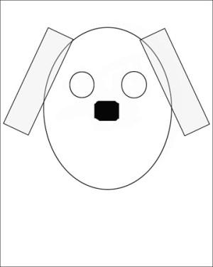 dog draw simple shapes easy shape drawing using basic steps way step getdrawings head cartoon