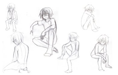 sitting drawing poses anime pose challenge body male draw person everlasting ash positions sit human floor kneeling reference guy drawings
