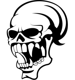 1024x1024 skull with big teeth if you want to use this image free [ 1024 x 1024 Pixel ]