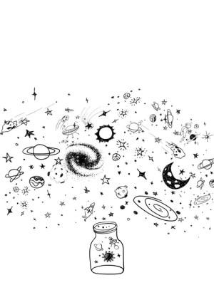 aesthetic space drawing getdrawings