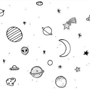 aesthetic space drawing draw planet dark aliens getdrawings