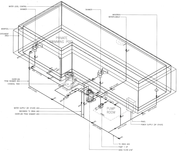 Swimming Pool Drawing Details At Getdrawings