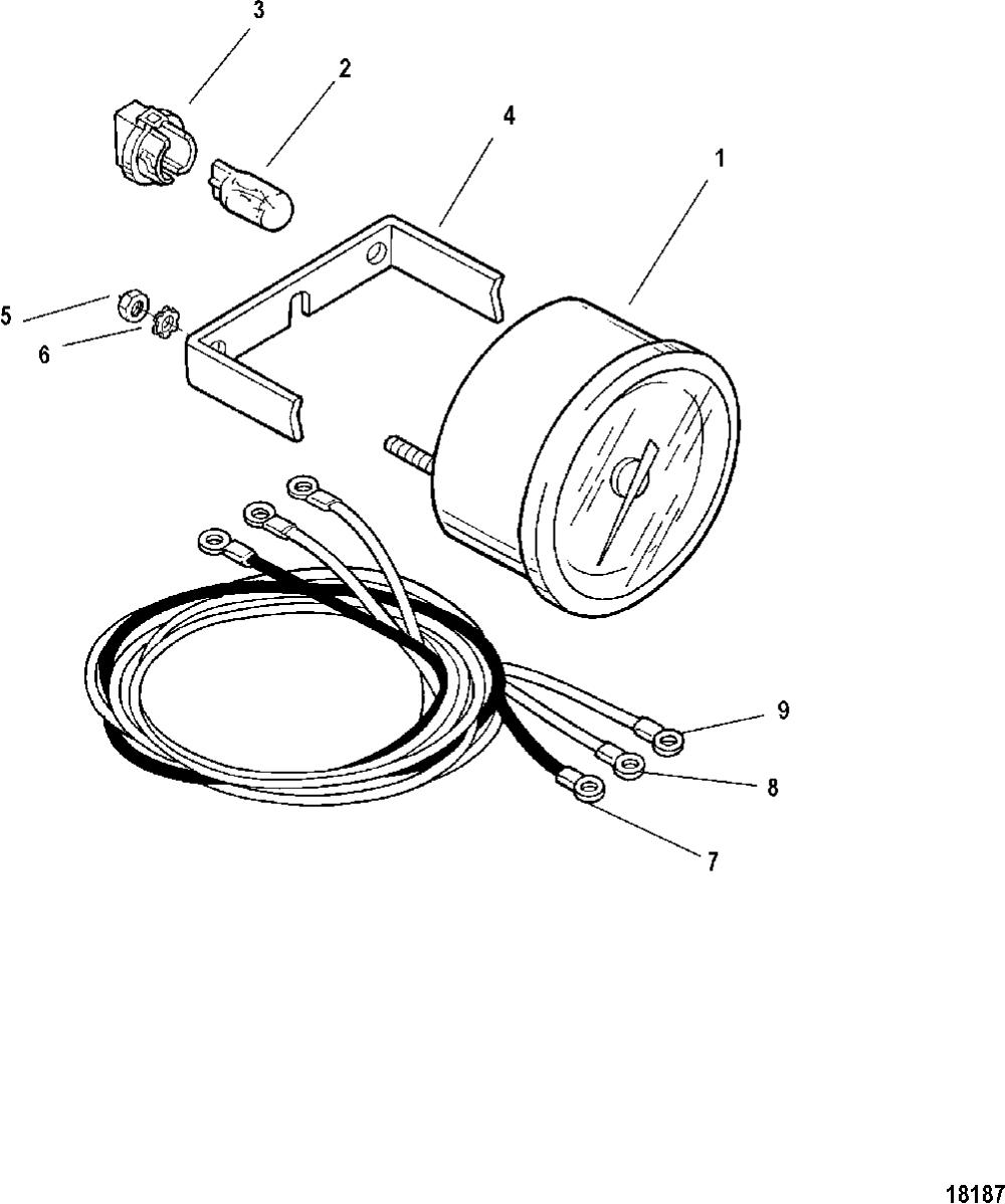 medium resolution of 1001x1200 gauge and mounting hardware tachometer