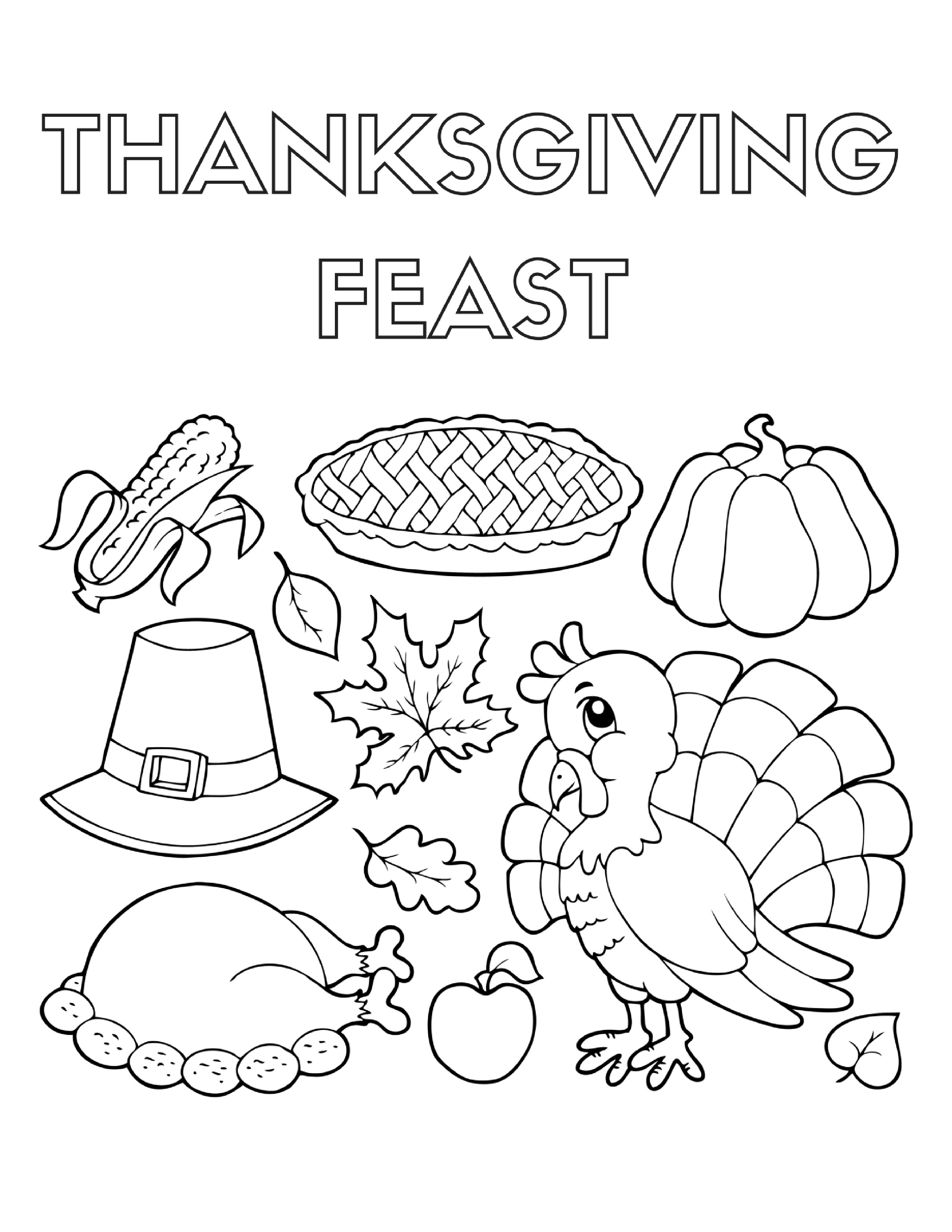 Thanksgiving Food Drawing At Getdrawings