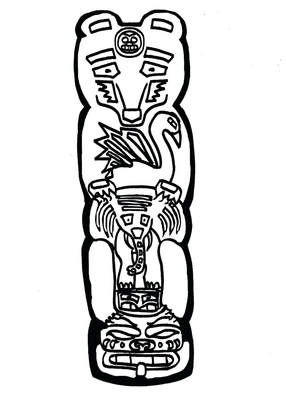 medium resolution of 1700x2338 totem pole coloring pages displaying images for totem totem pole