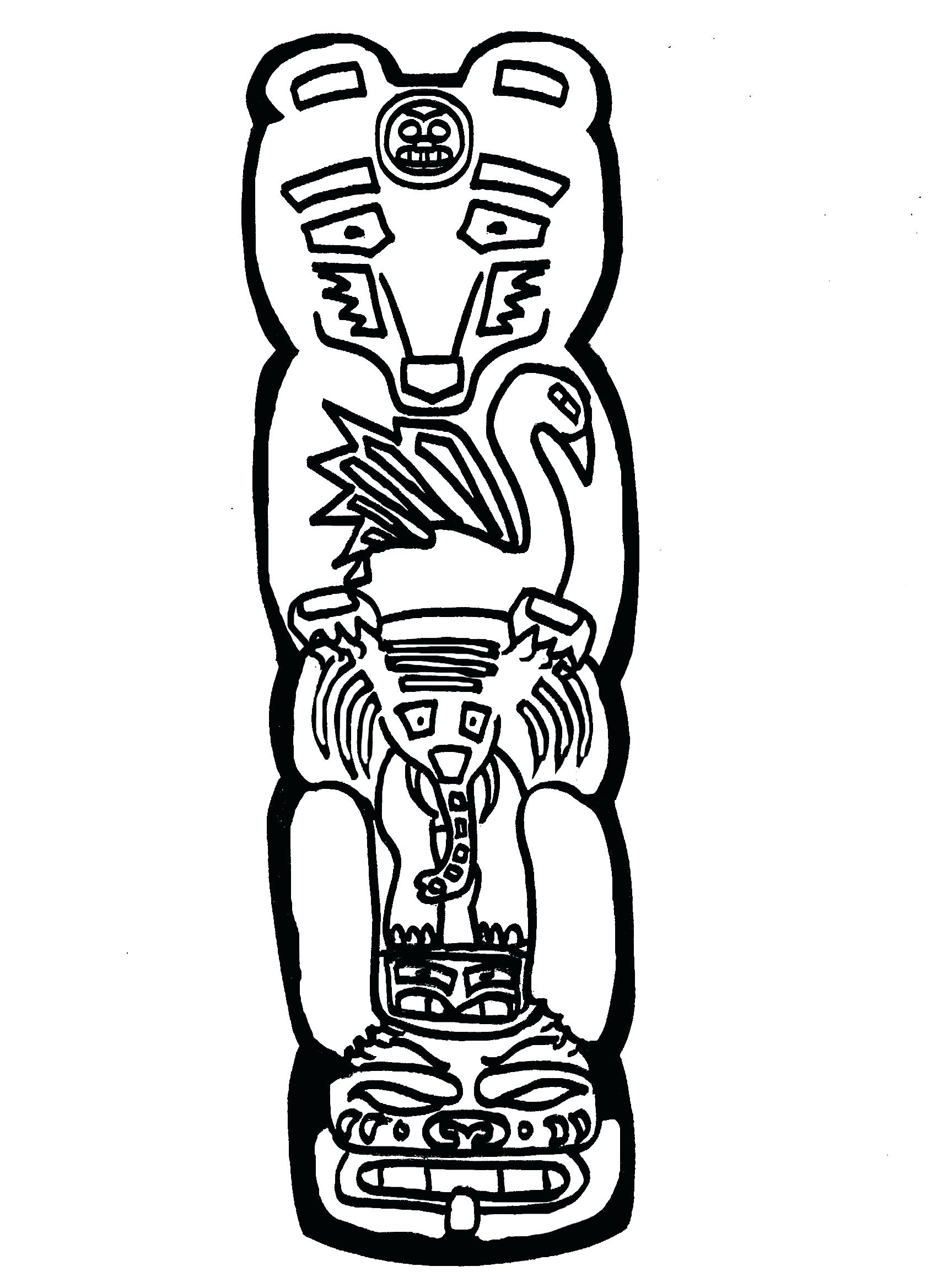 hight resolution of 1700x2338 totem pole coloring pages displaying images for totem totem pole