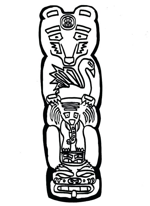 small resolution of 1700x2338 totem pole coloring pages displaying images for totem totem pole
