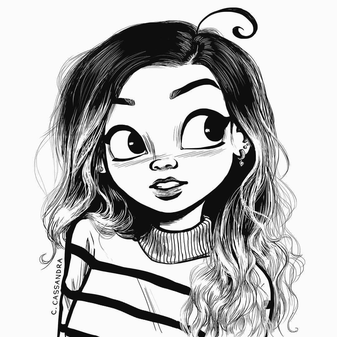 tumblr drawing girl at