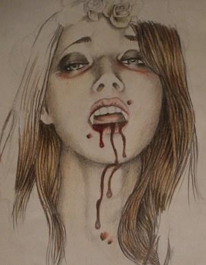vampire pencil drawing diaries drawings vampires deviantart getdrawings draw