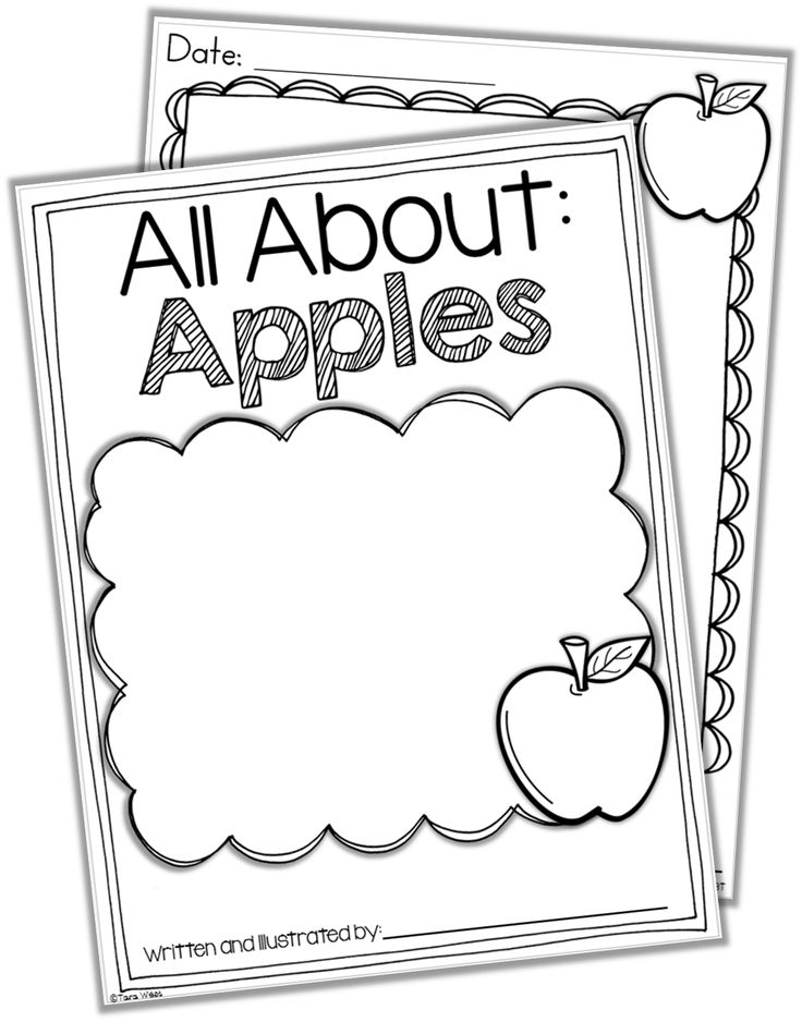 Writing And Drawing Template For Kindergarten at