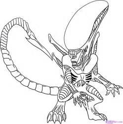 easy xenomorph drawing getdrawings alien drawings