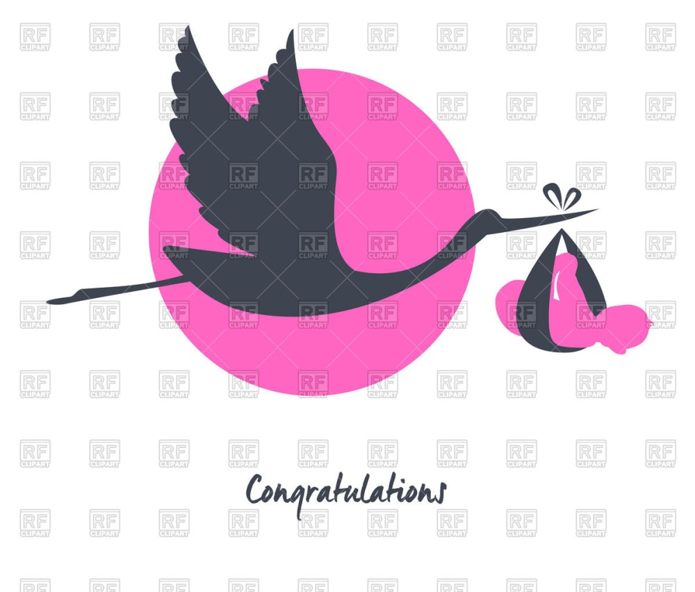 medium resolution of 1200x1023 flying stork with baby vector image vector artwork of plants and