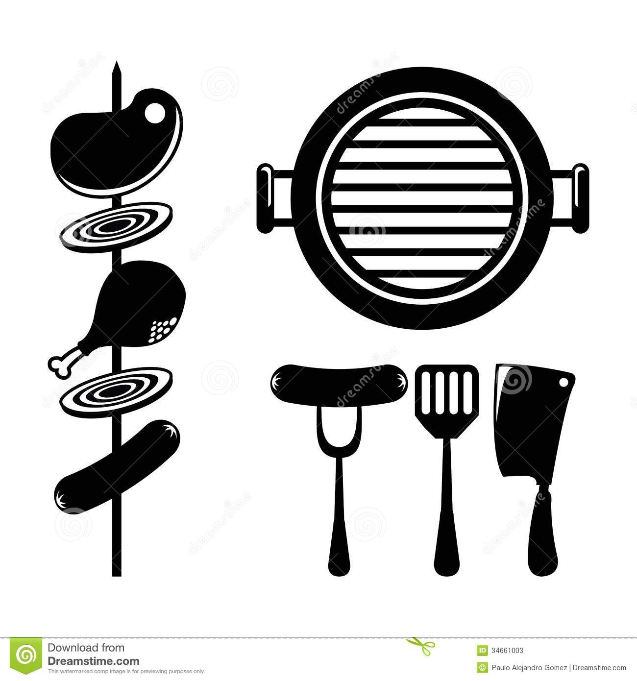 hight resolution of 1300x1390 bbq vector group with items
