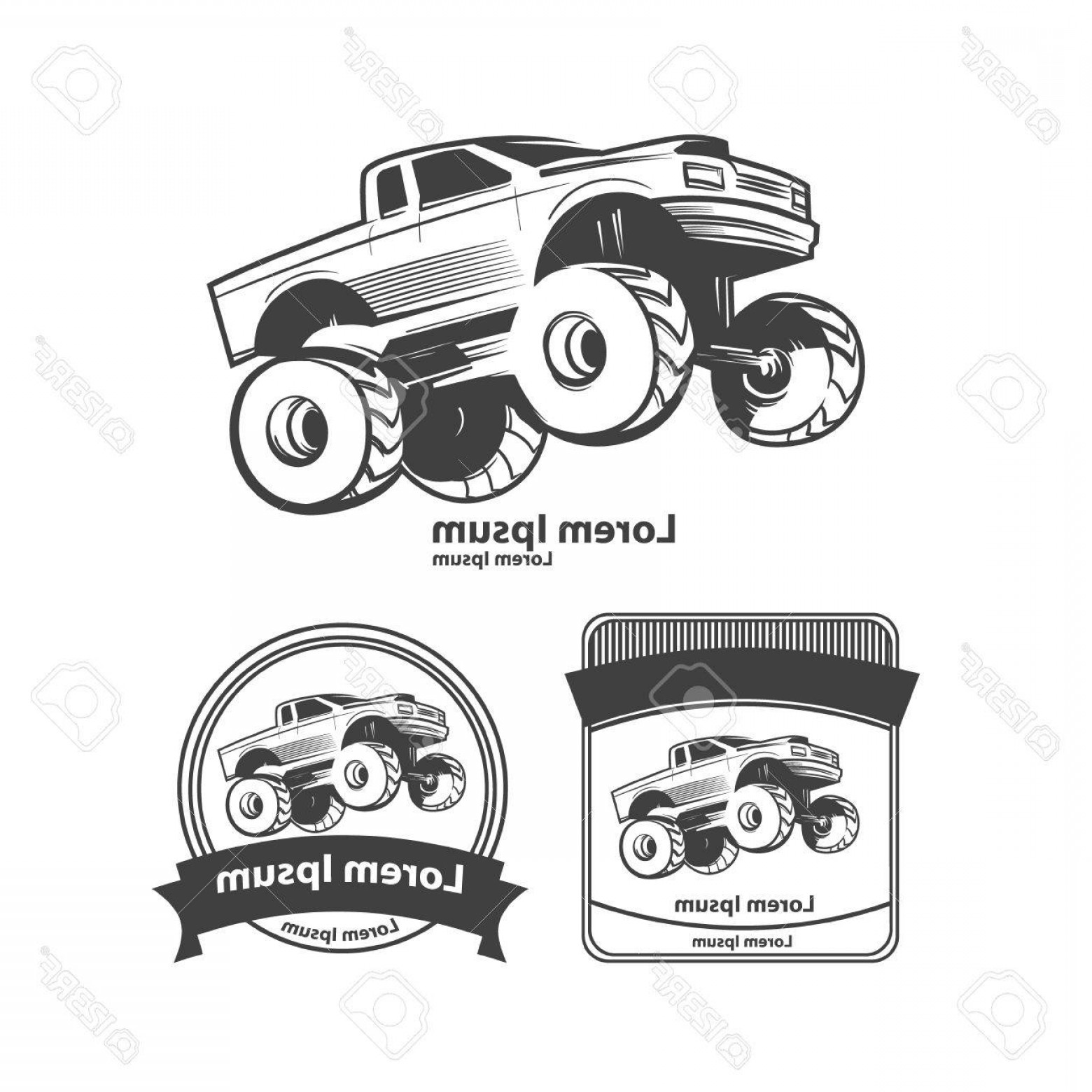 hight resolution of 1560x1560 photostock vector monster truck bigfoot car design elements simple