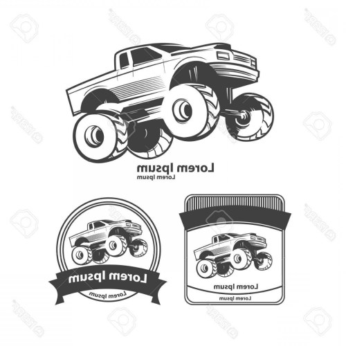 small resolution of 1560x1560 photostock vector monster truck bigfoot car design elements simple