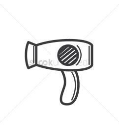 1300x1300 free hair dryer vector image [ 1300 x 1300 Pixel ]