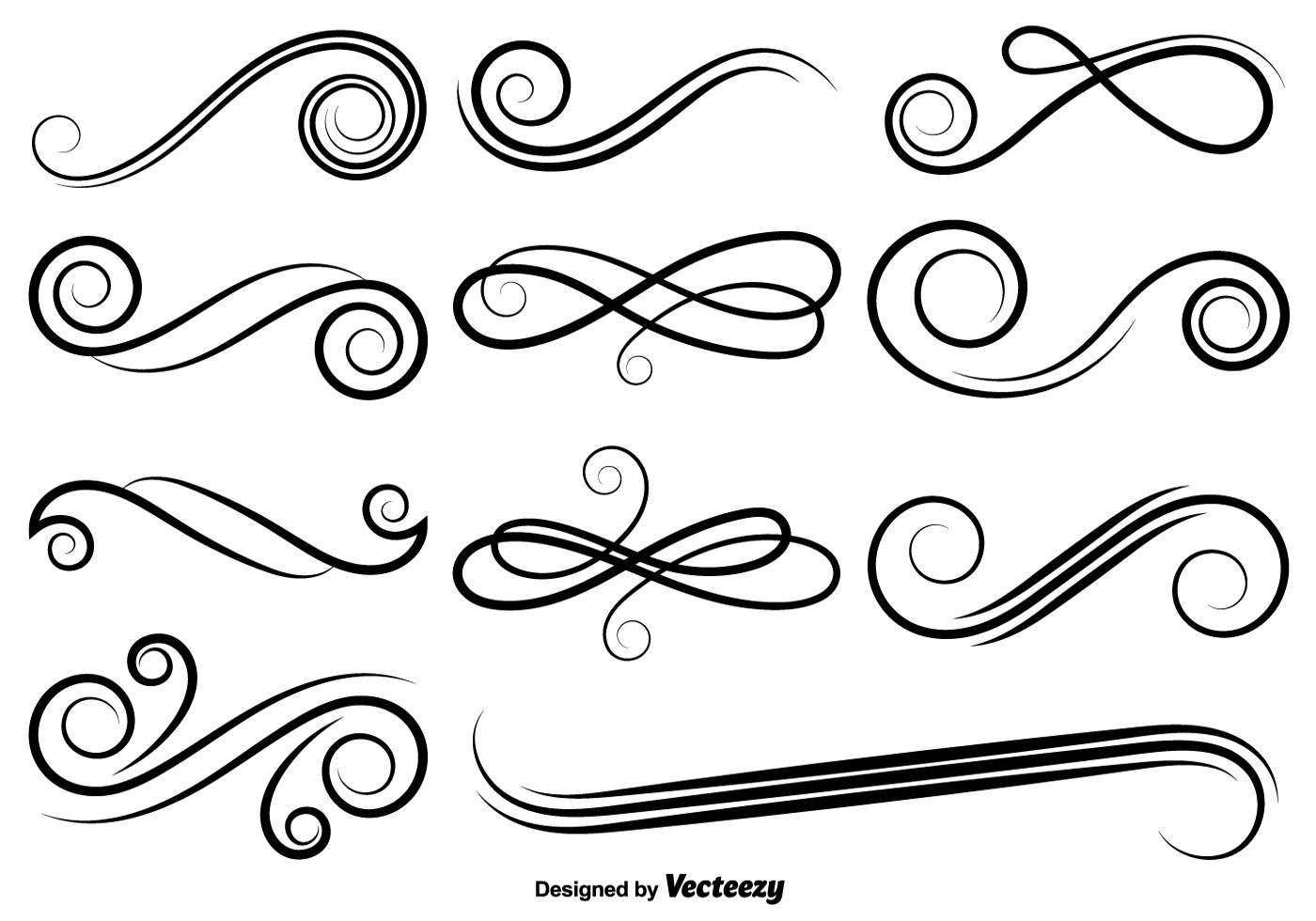 Calligraphy Flourish Vector At Getdrawings