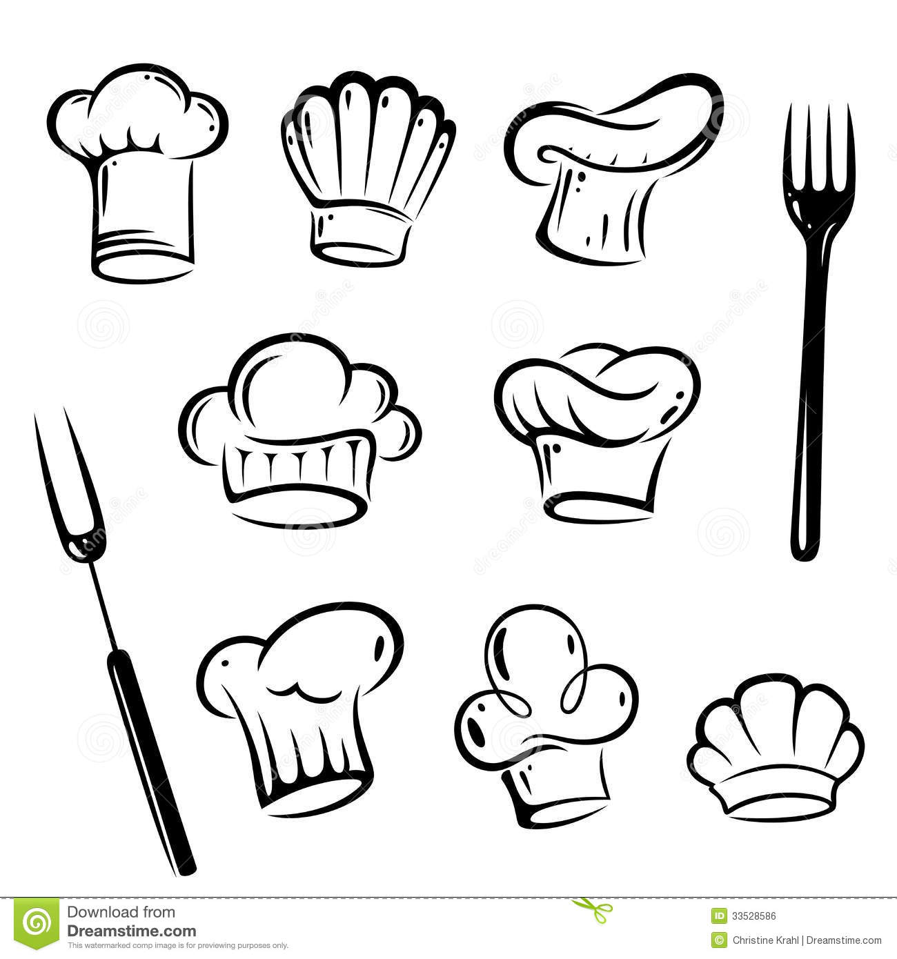 hight resolution of chef hat vector free