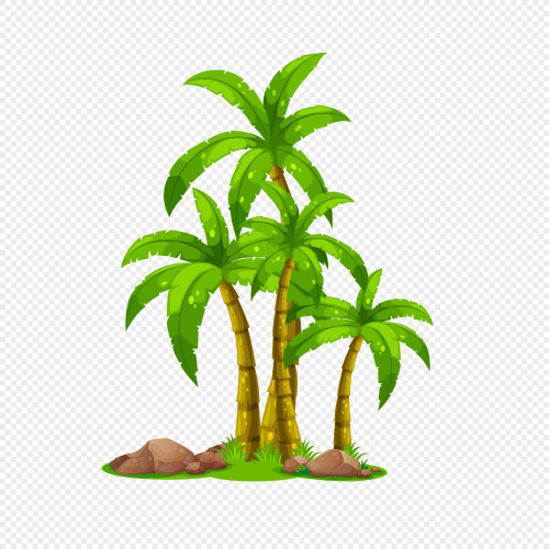 small resolution of 2020x2020 cartoon coconut tree vector map download png image picture free