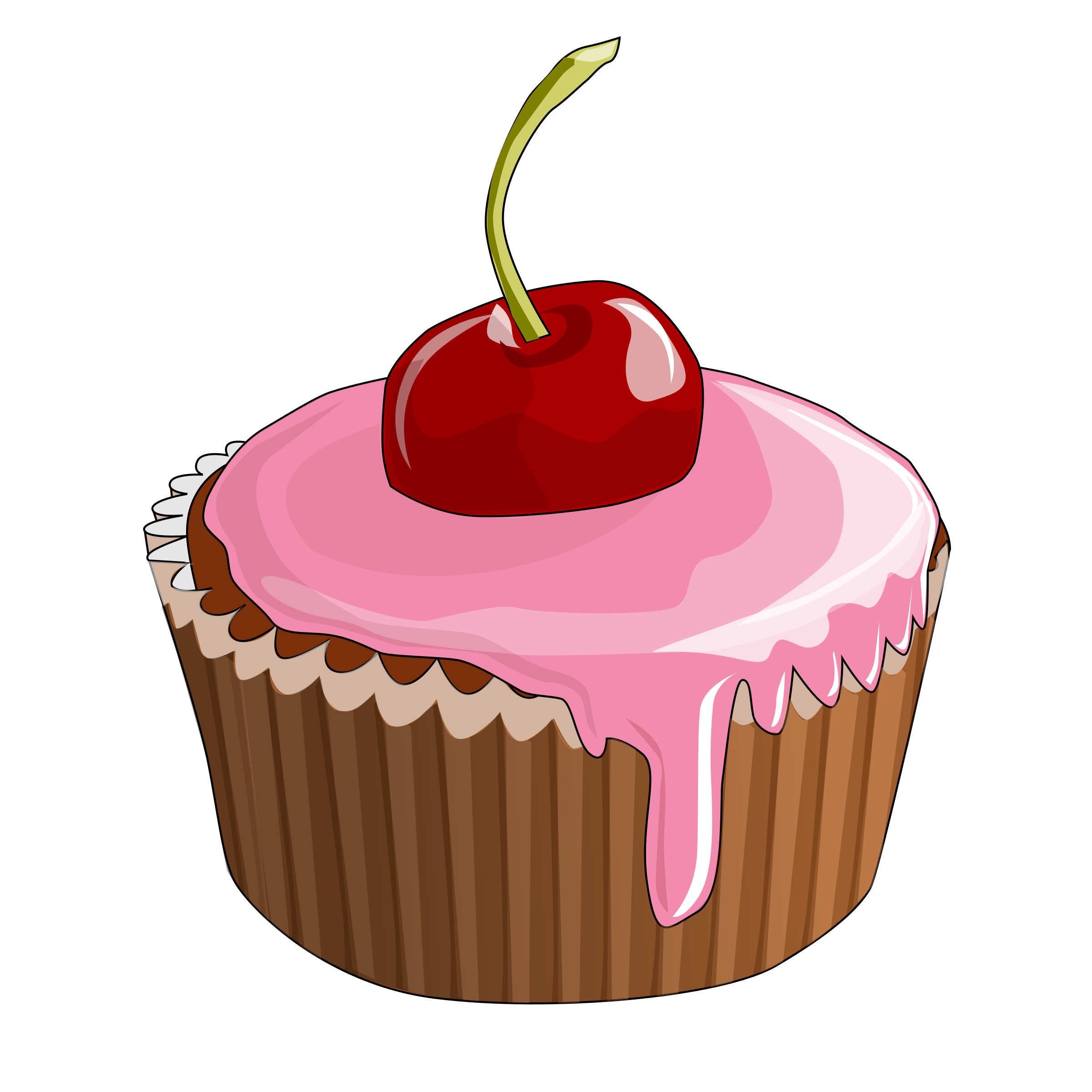 Cupcake Vector Art At Getdrawingscom Free For Personal Use