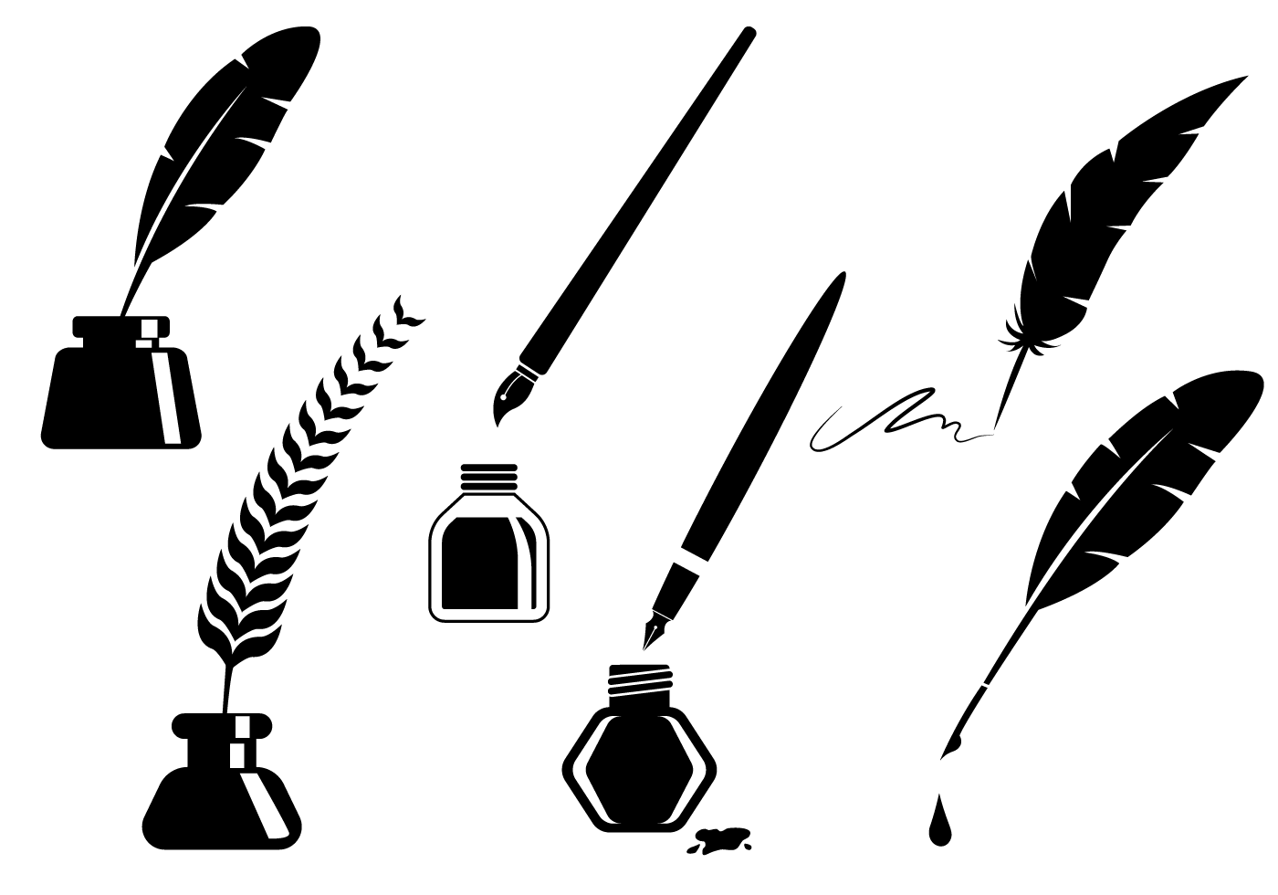 Feather Pen Vector At Getdrawings