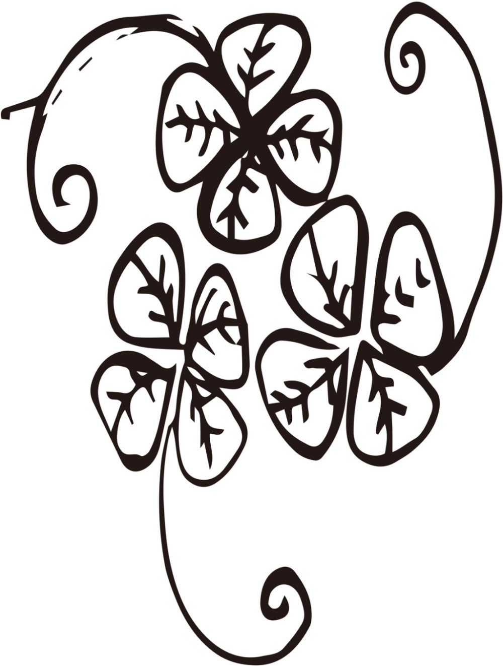 medium resolution of 1024x1354 lucky four leaf clover vector free download ai files