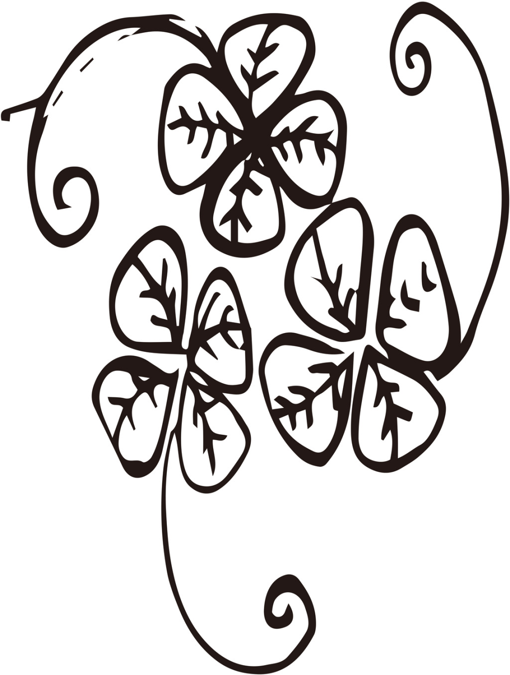 hight resolution of 1024x1354 lucky four leaf clover vector free download ai files