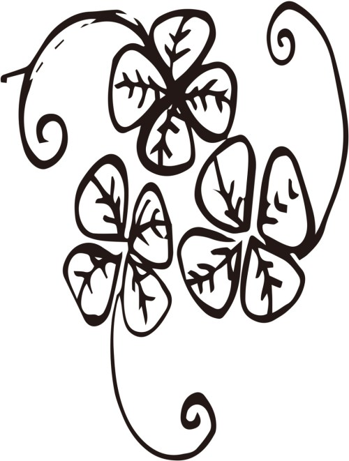 small resolution of 1024x1354 lucky four leaf clover vector free download ai files