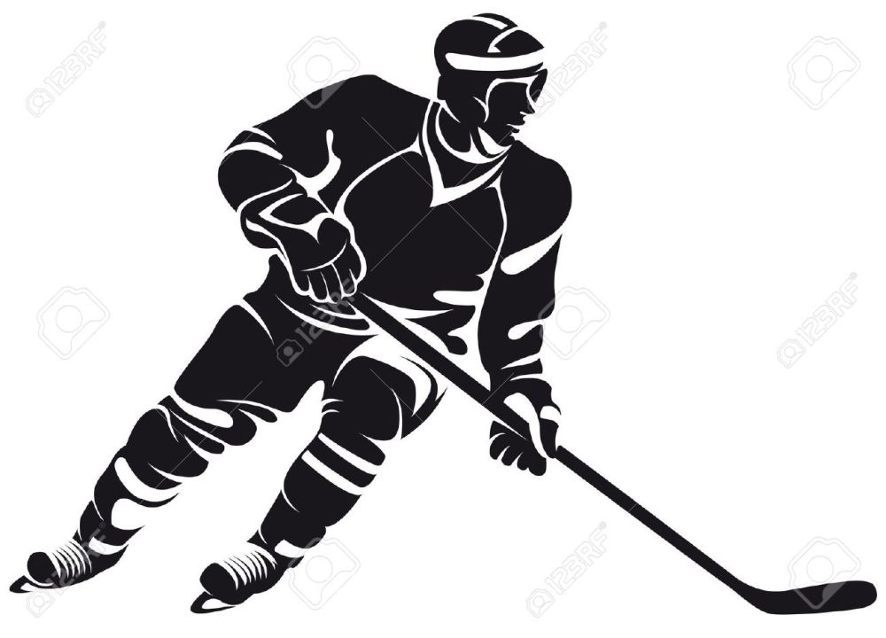 medium resolution of 1300x936 collection of hockey player clipart black and white high